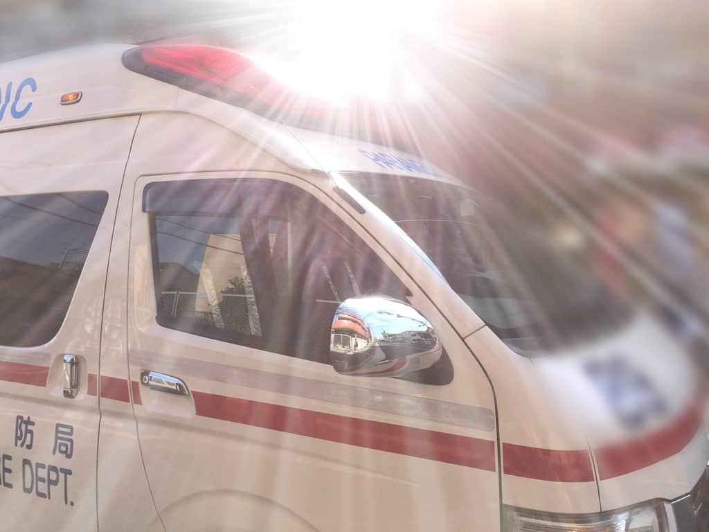 ハイエースベースの救急車