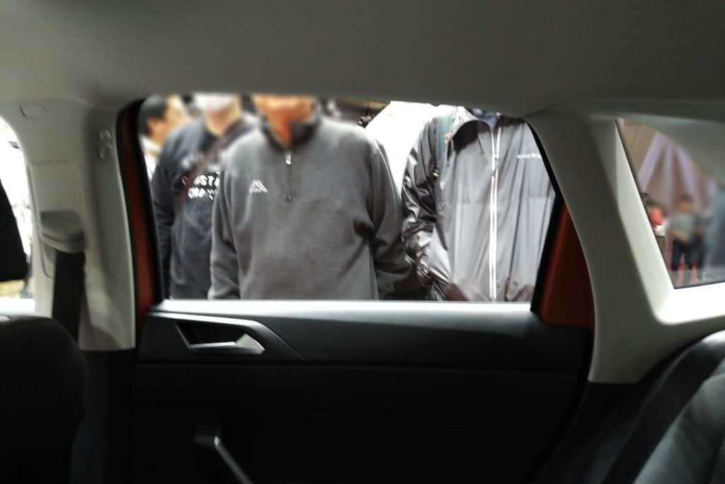VWポロの後部座席のドア周り