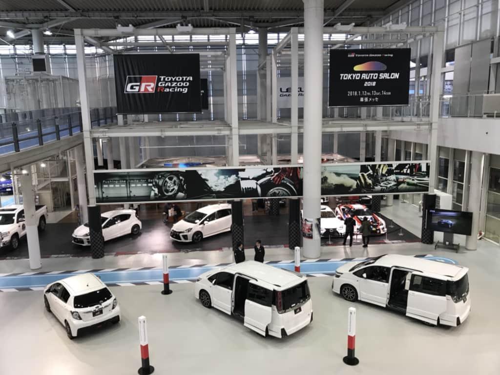 トヨタGRの展示コーナー