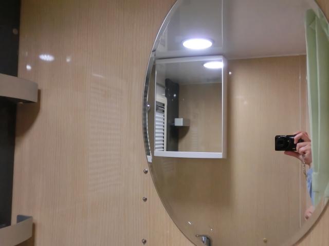 ボーダーバンクスエボリューションのトイレの鏡
