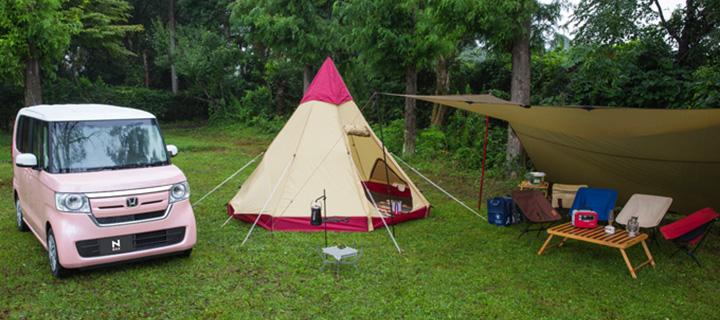 ホンダ N-BOXでキャンプ
