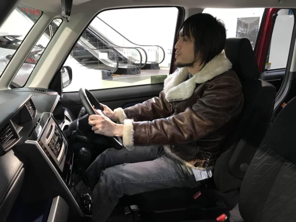 タンクの運転席