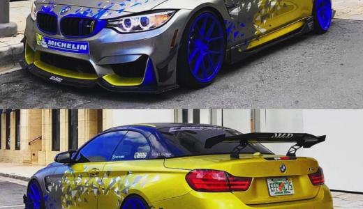 【画像】BMW M4のカスタム例まとめ!改造・ドレスアップする方必見!