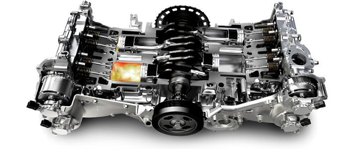 水平対向エンジン 構造
