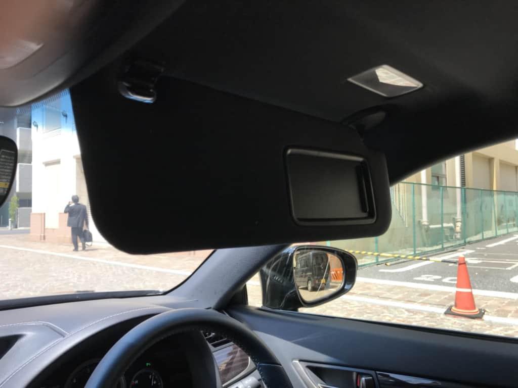 レクサスGSの運転席側のサンバイザー