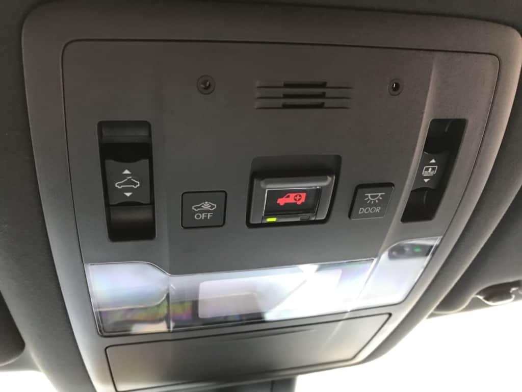 レクサスRXの前部座席の室内灯