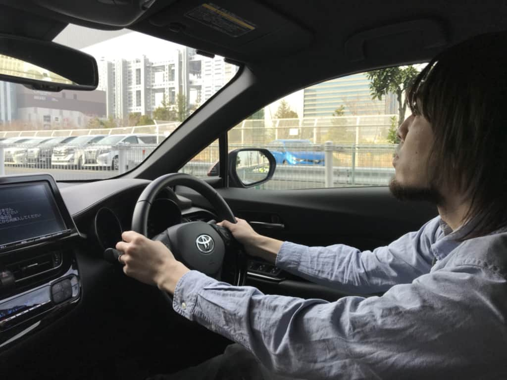 C-HRの運転姿勢