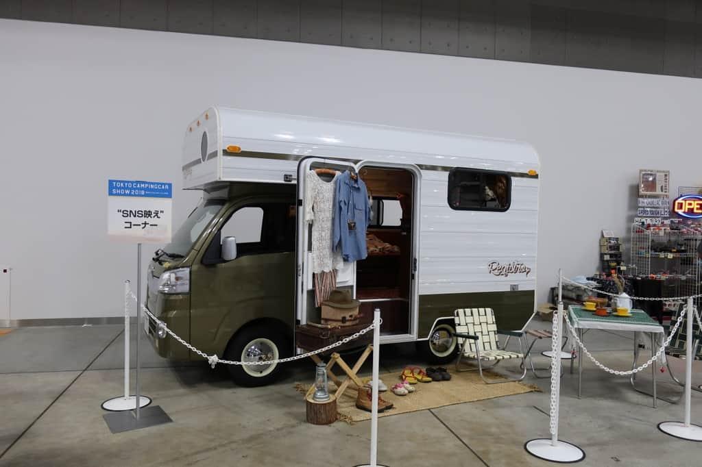 東京キャンピングカーショー2018 写真撮影用キャンピングカー