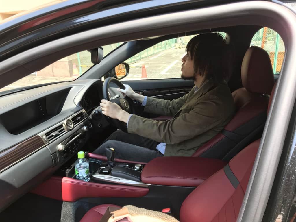 レクサスGS 運転姿勢