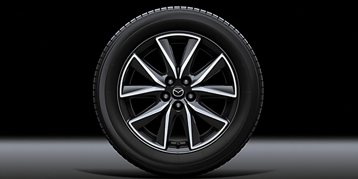 CX-5 225/55R19 99Vタイヤ&19×7Jインチアルミホイール(切削加工:ガンメタリック塗装)