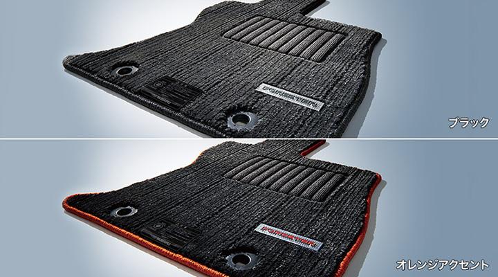 フォレスター フロアカーペット(ブラック/オレンジアクセント)