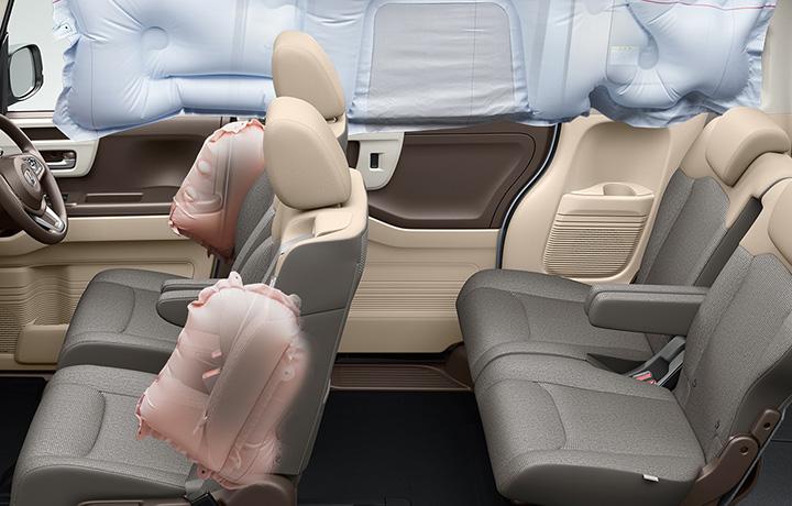 N-BOX 前席用i-サイドエアバッグシステム+サイドカーテンエアバッグシステム