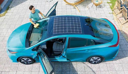 プリウスPHVのソーラーパネルの評価!発電量・価格は?後付けはできる?